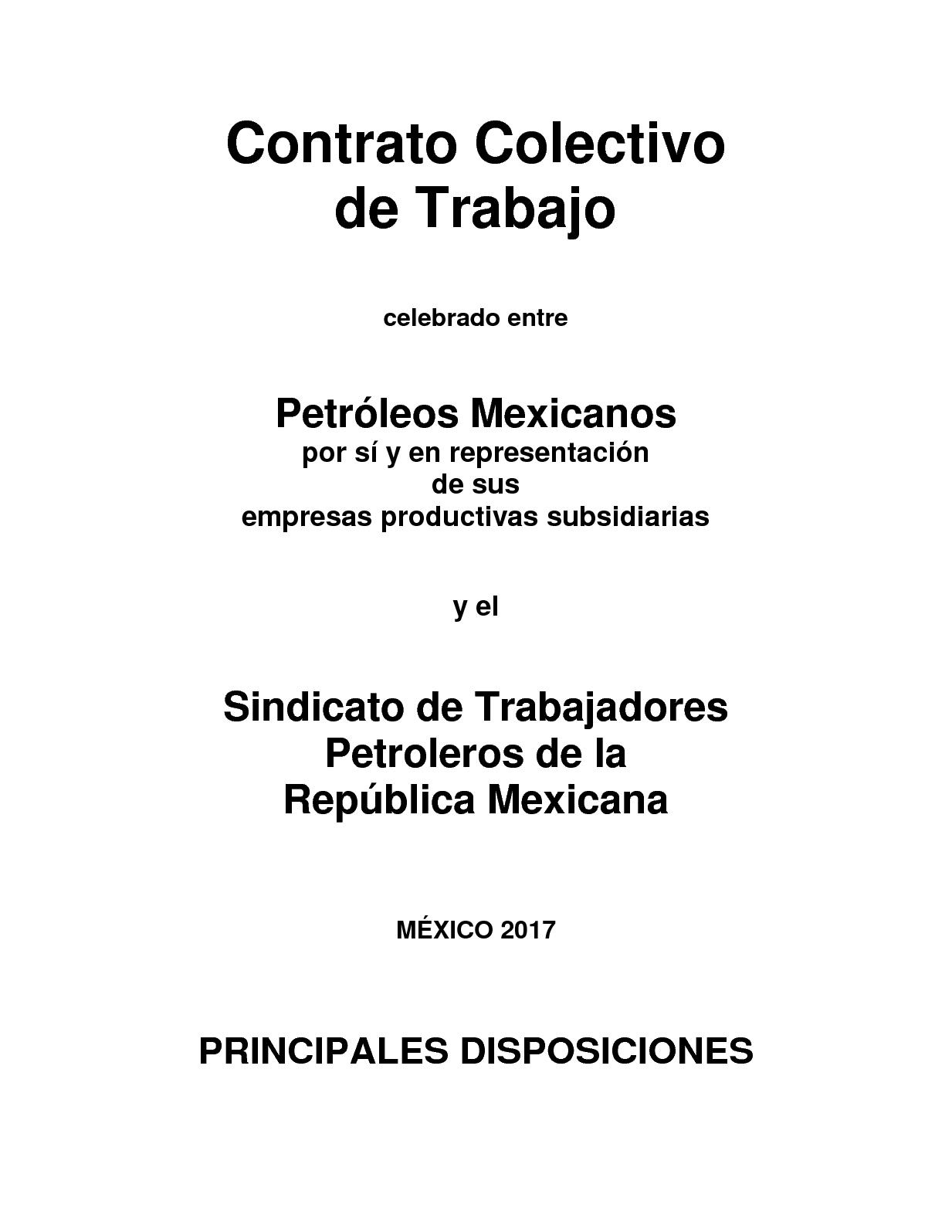 Calaméo - Contrato colectivo de trabajo 2017 2019