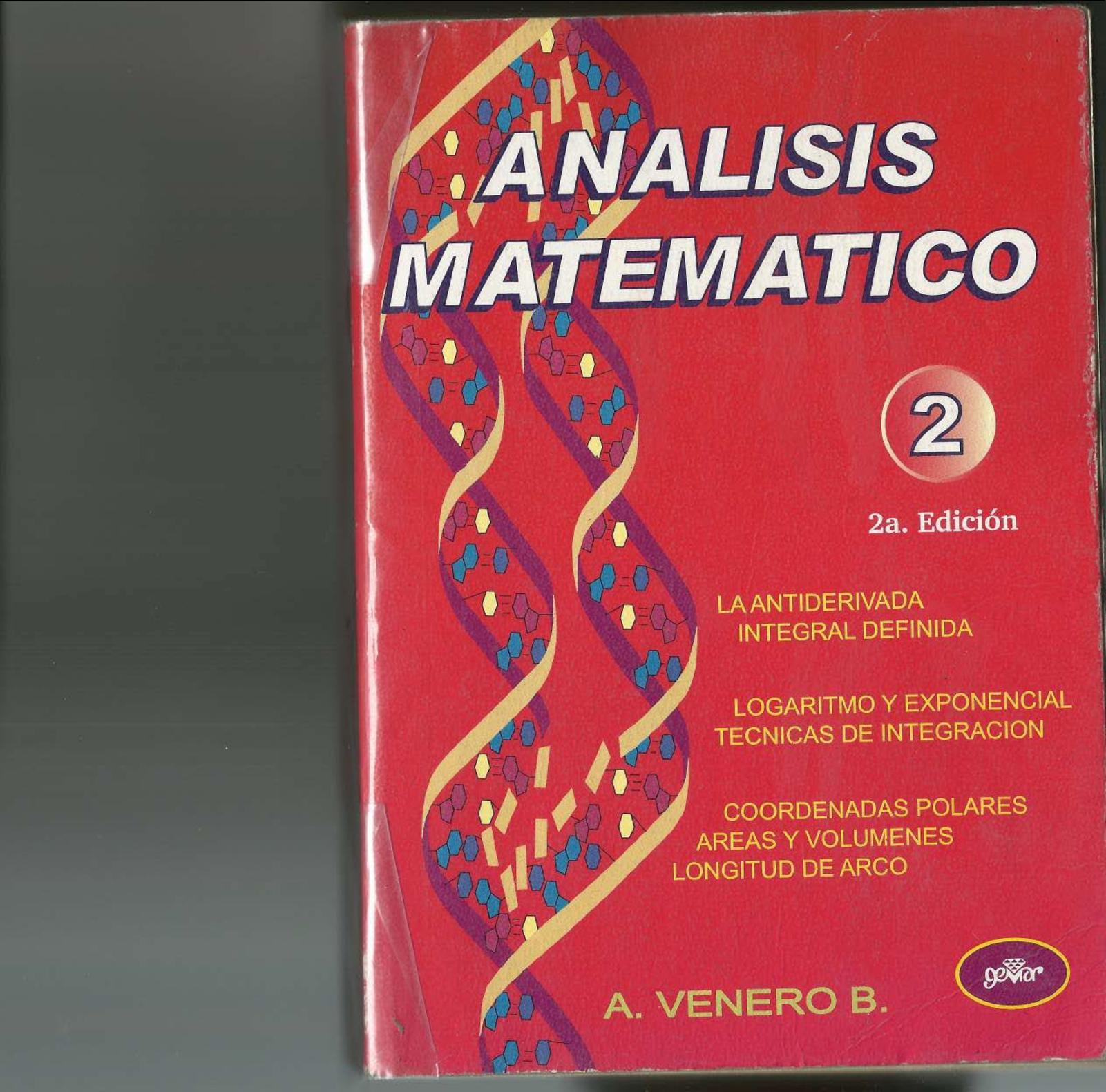 Análisis Matemático 2 Ed Armando Venero B