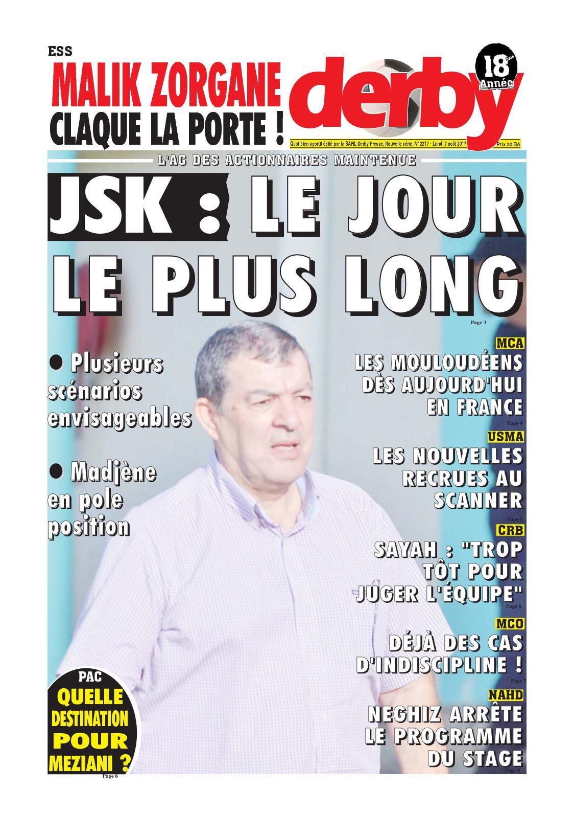 derby du 07.08.2017