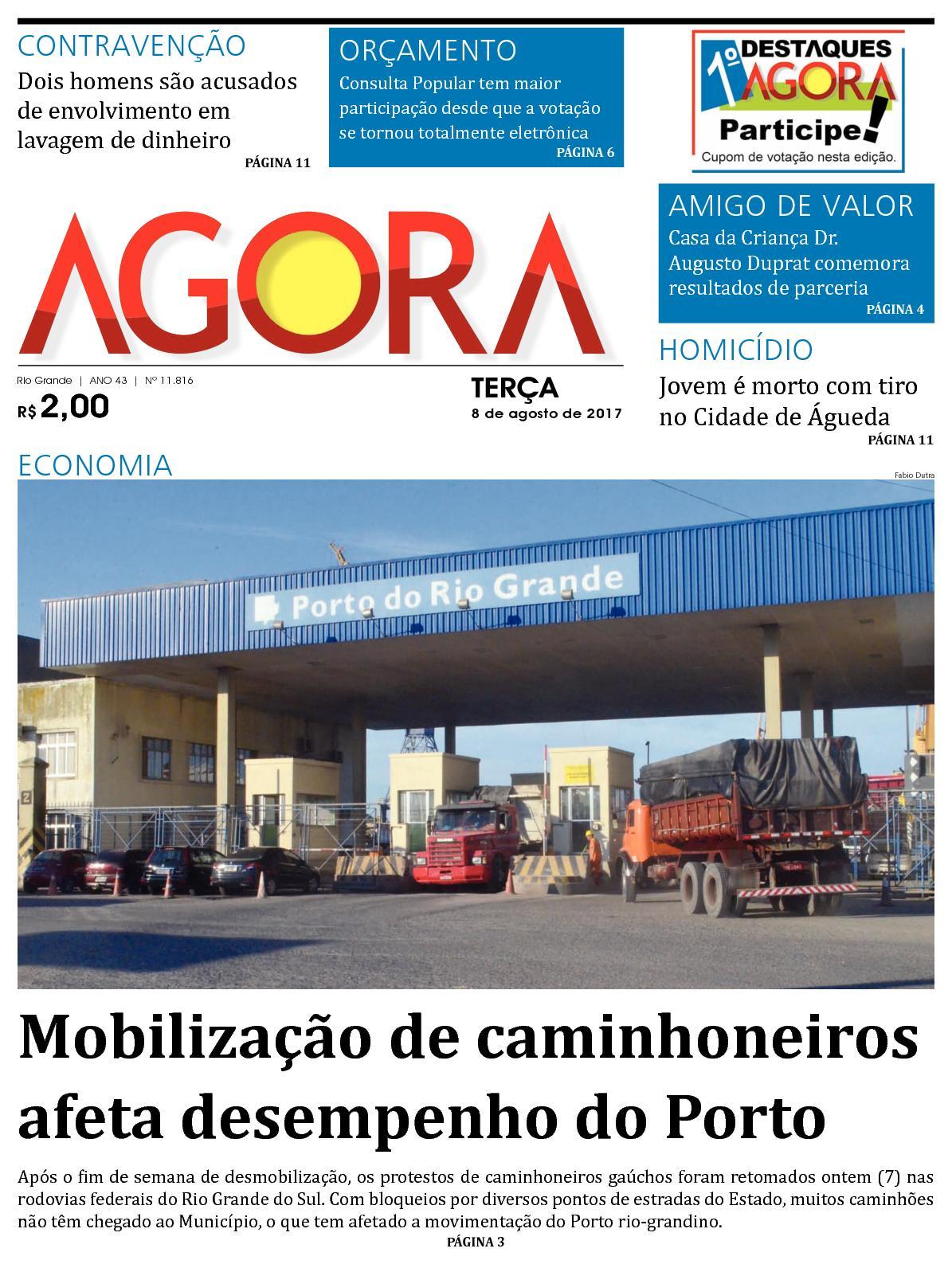 Jornal Agora - Edição 11816 - 8 de Agosto de 2017