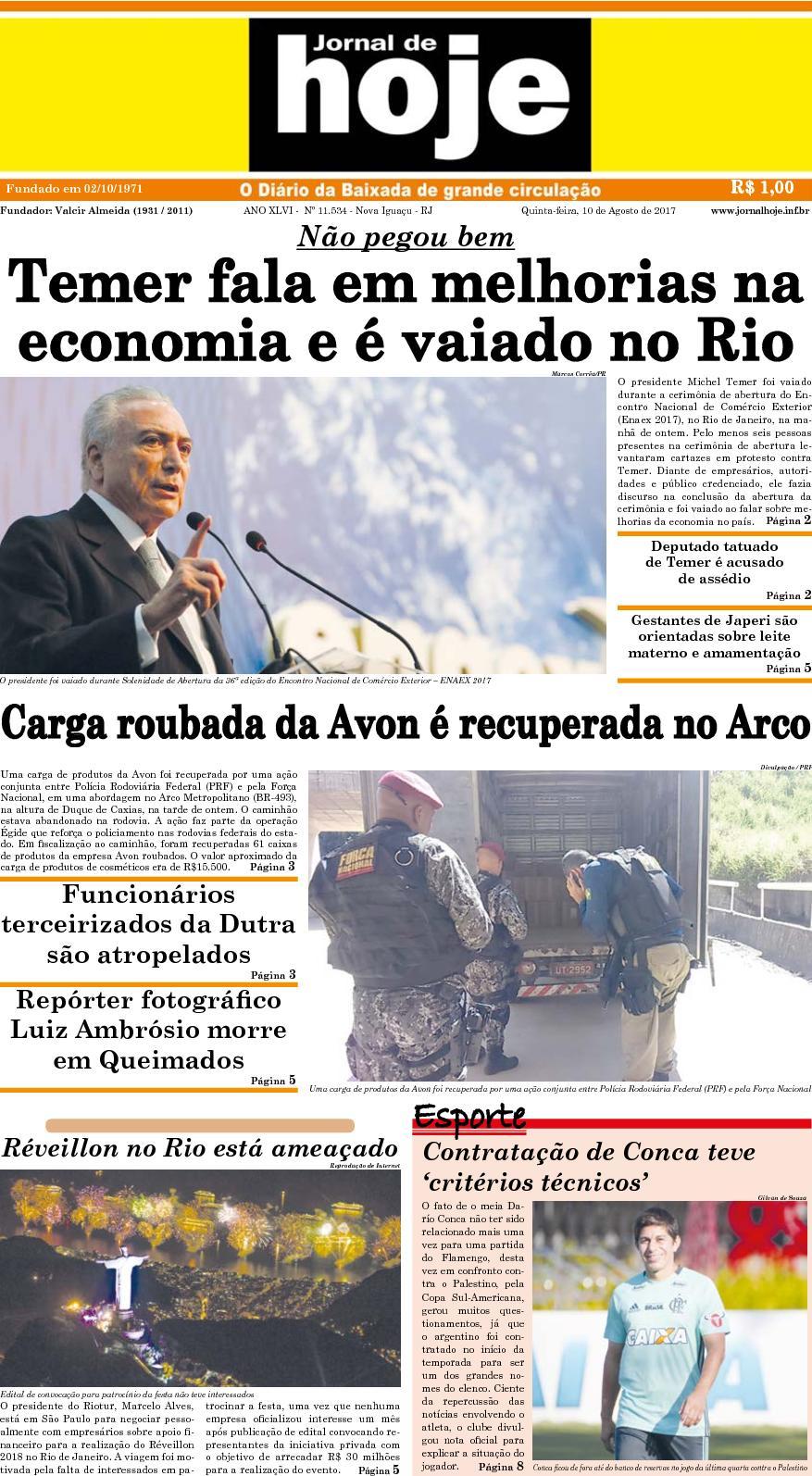 Jornal De Hoje 100817