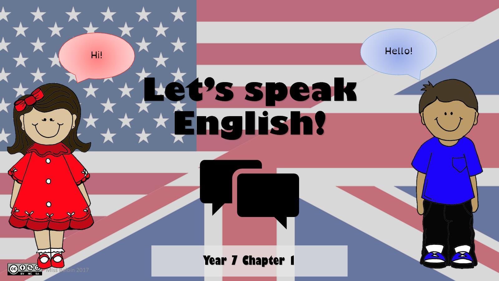 S1 Let's Speak English!