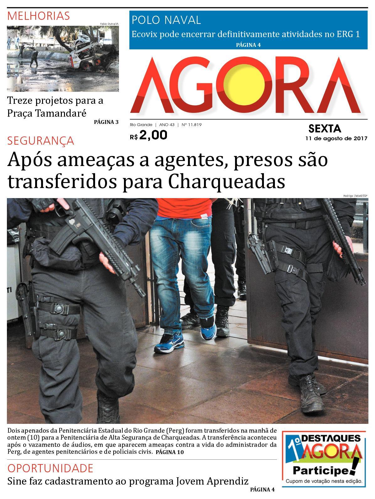 Jornal Agora - Edição 11819 - 11 de Agosto de 2017