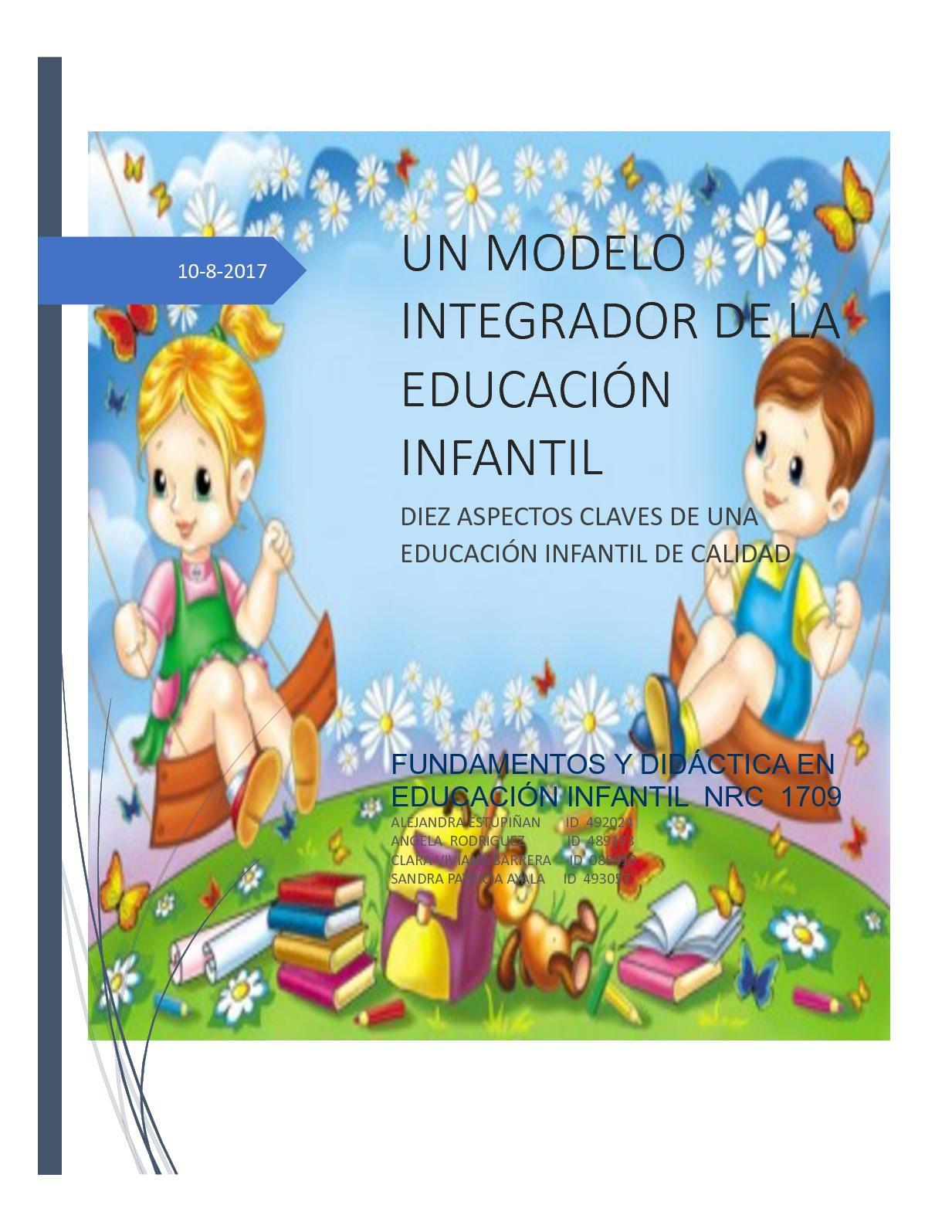 Calaméo - Un Modelo Integrador De La Educación Infantil