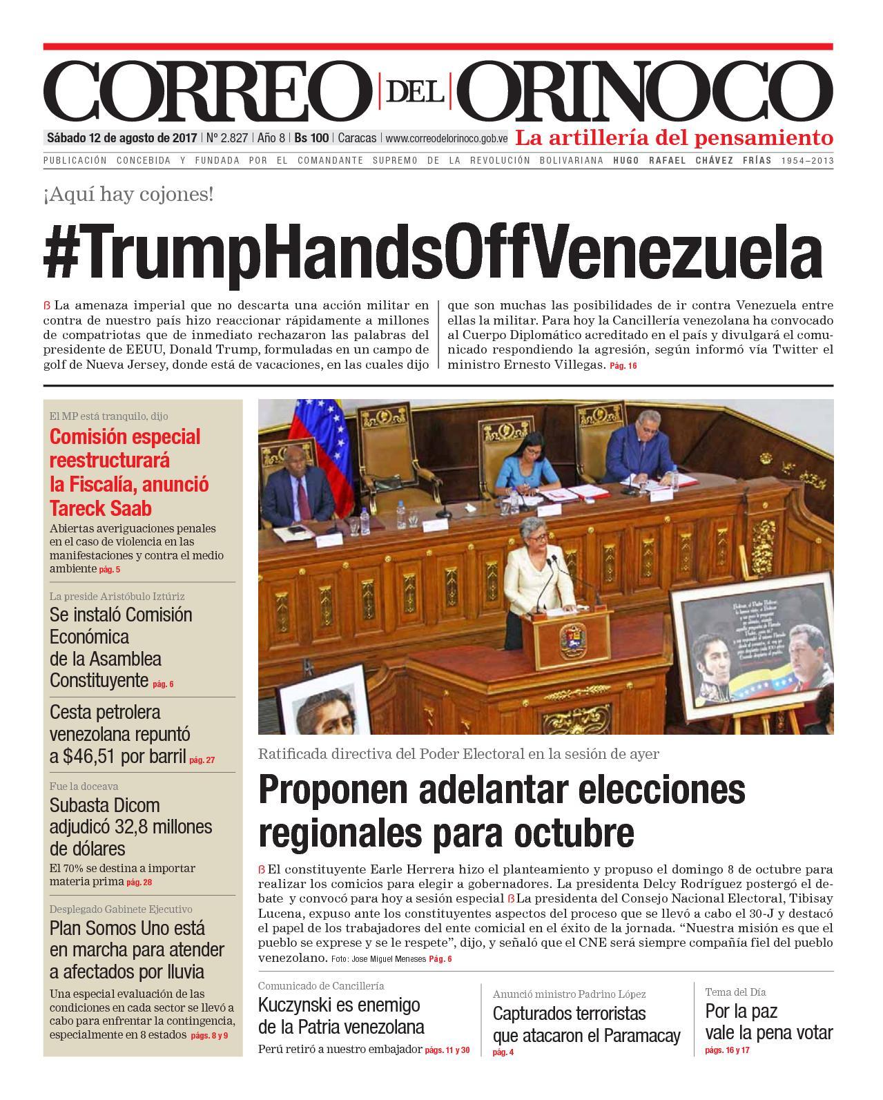 Calaméo - Correo del Orinoco del correo sabado 12 agosto de 2017 No ...