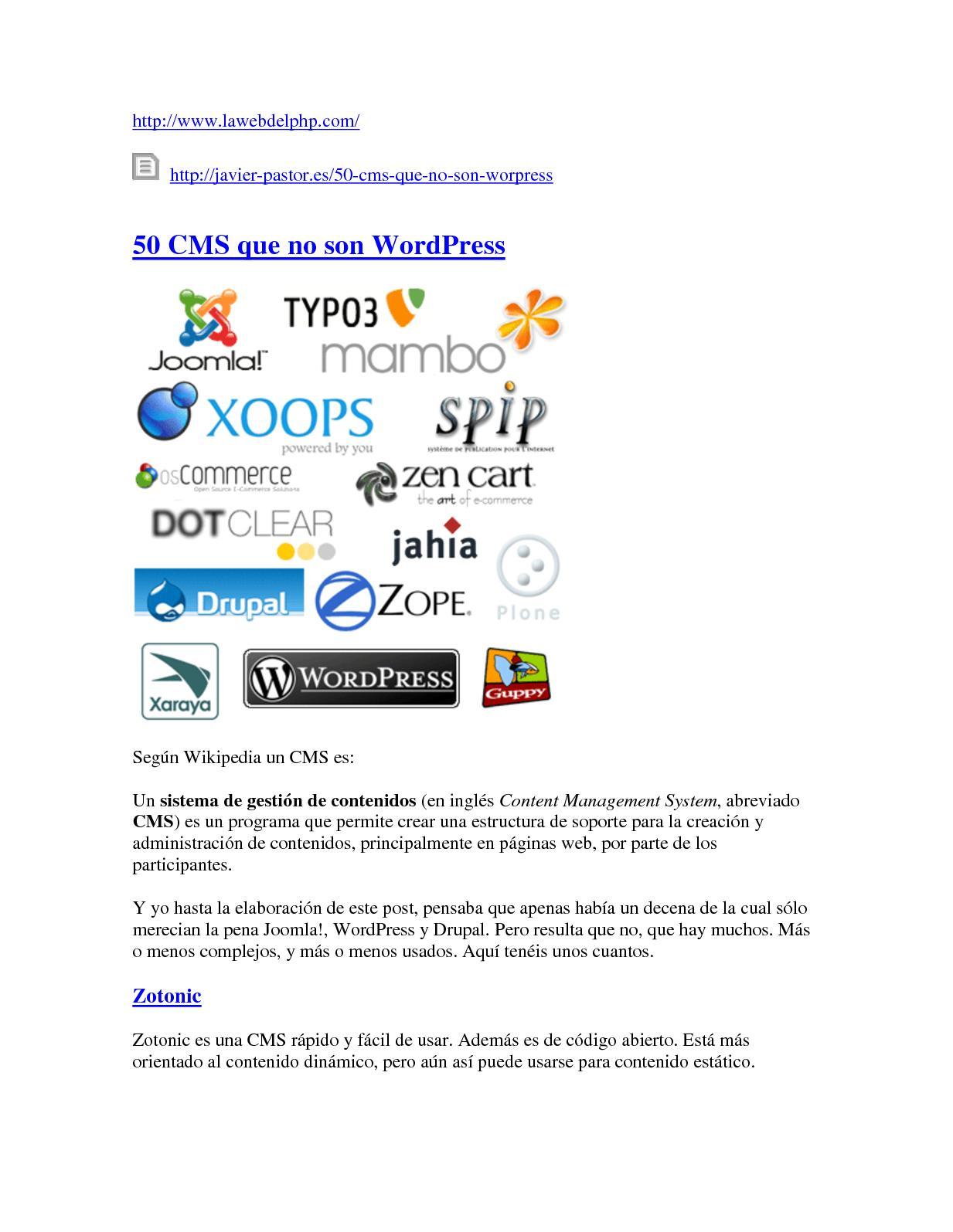 Calaméo - Cms Open Source Lista De Gestores Cms 3