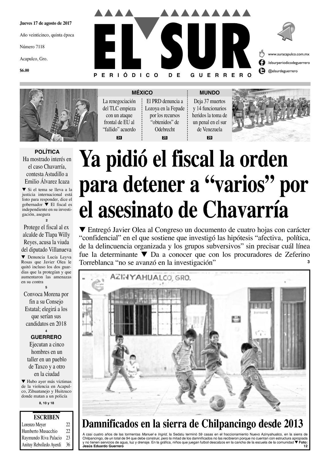 Calaméo - El Sur Jueves 17082017