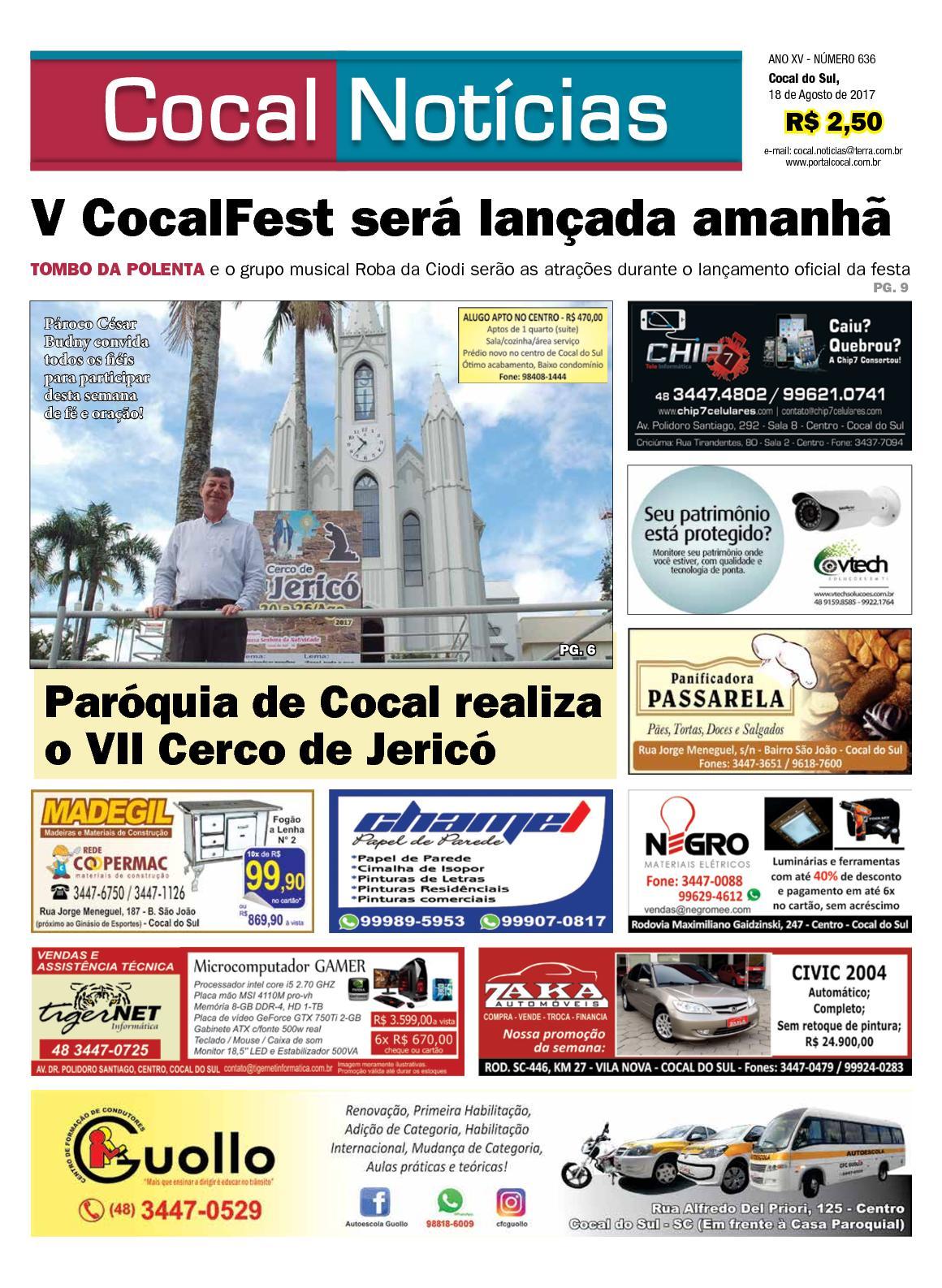 COCAL NOTÍCIAS ON LINE 18-08-2017 www.portalcocal.com.br