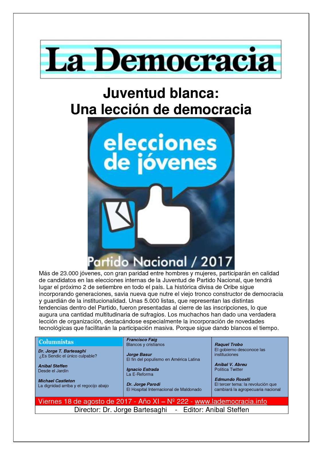 La Democracia - Nº 222 - 18/8/17
