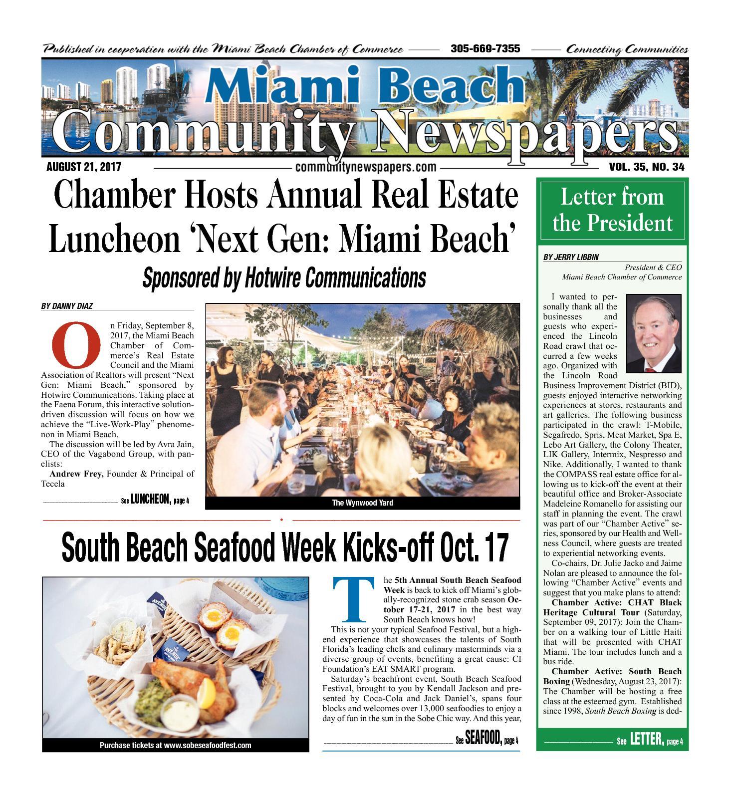 Calaméo Miami Beach News 08 21 2017