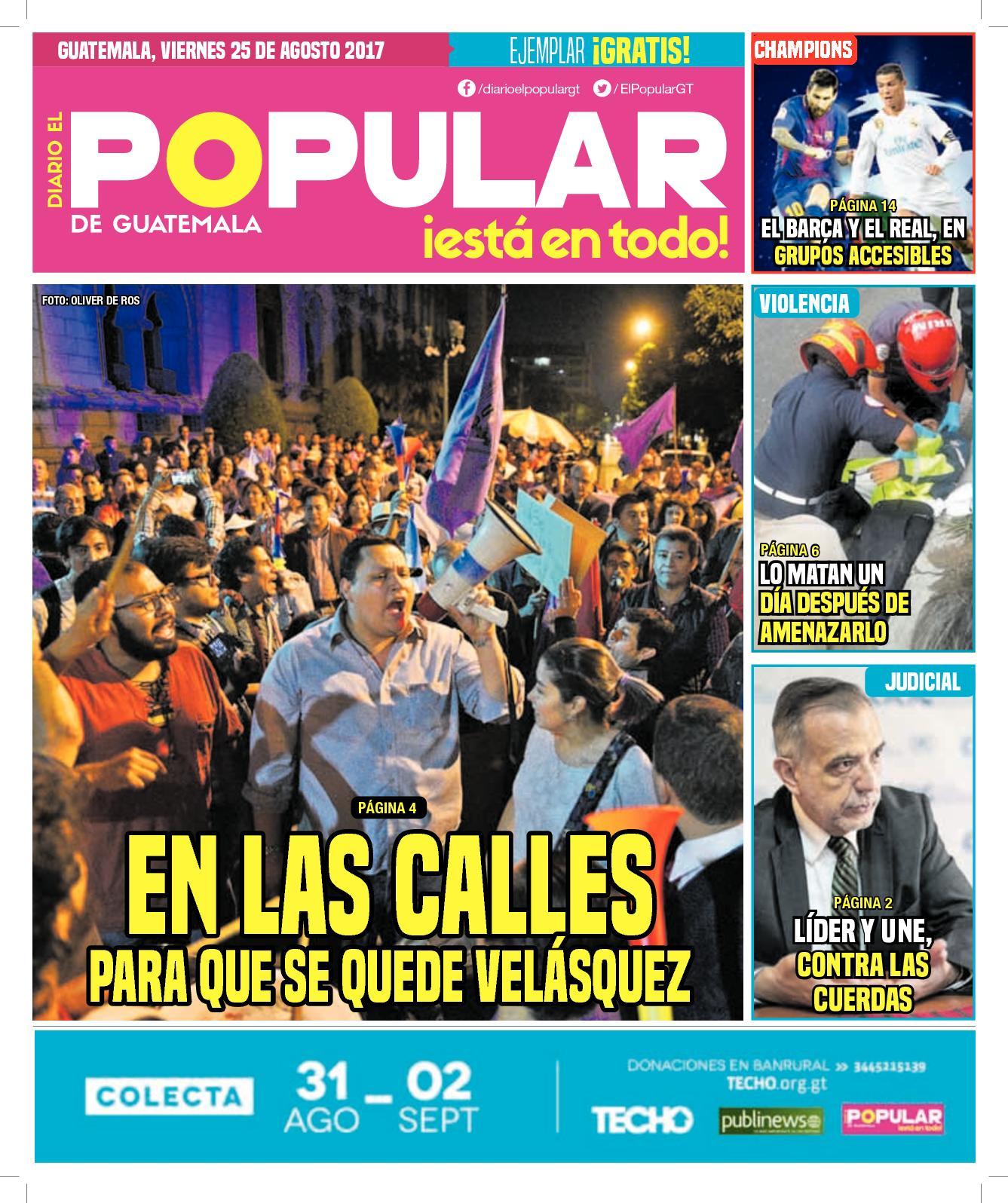 EL POPULAR GUATEMALA 25082017