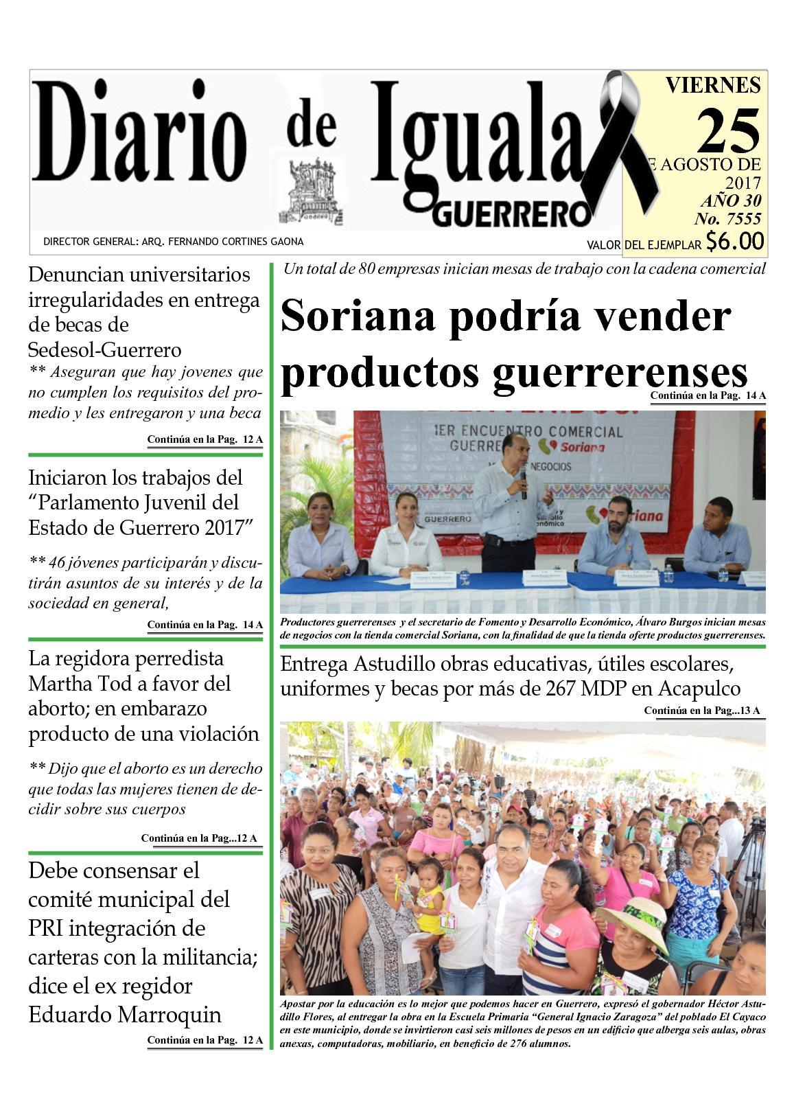 Diario De Iguala Viernes 25 De Agosto De 2017