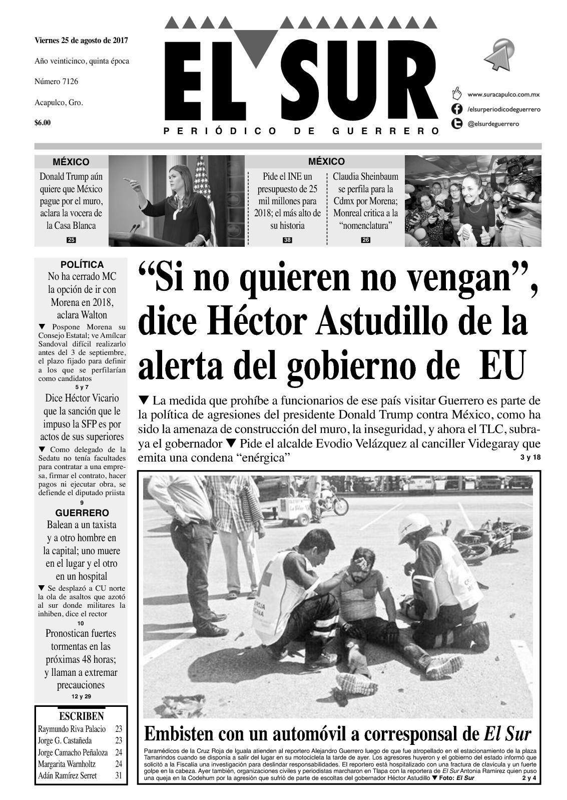 El Sur Viernes 25082017