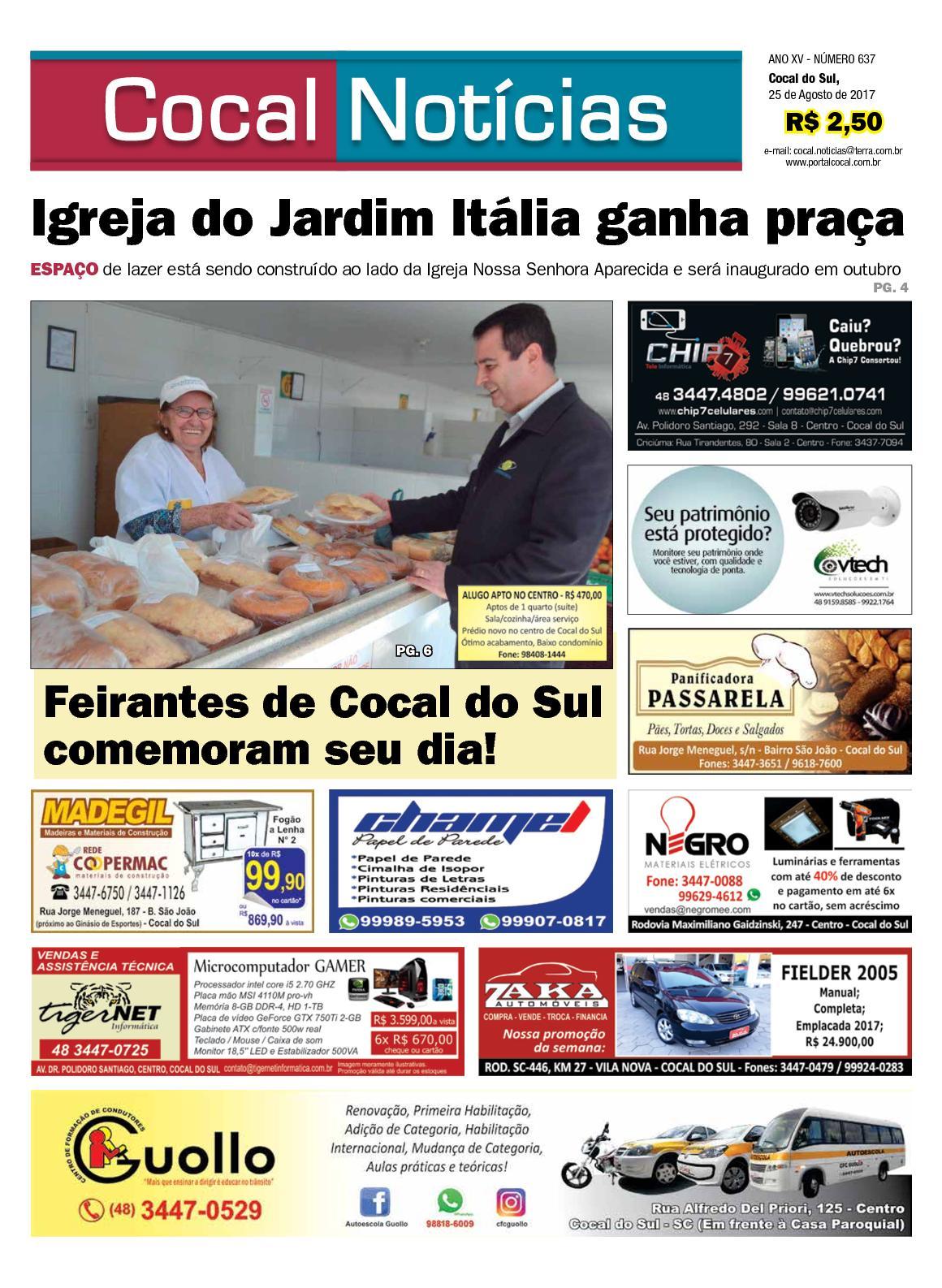 COCAL NOTÍCIAS ON LINE 25-08-2017 www.portalcocal.com.br