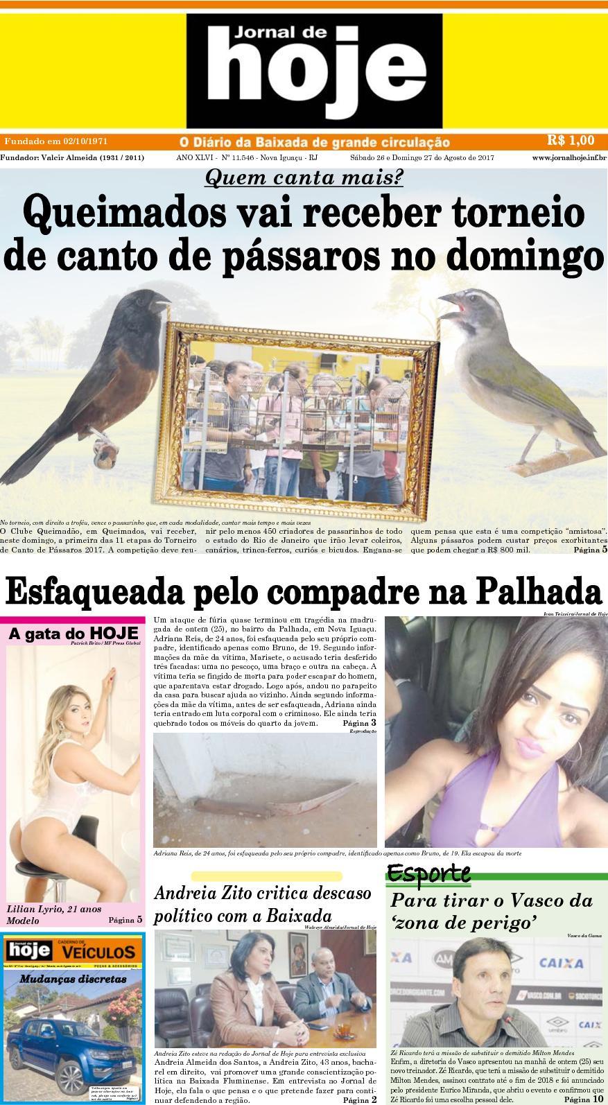 Jornal De Hoje 260817
