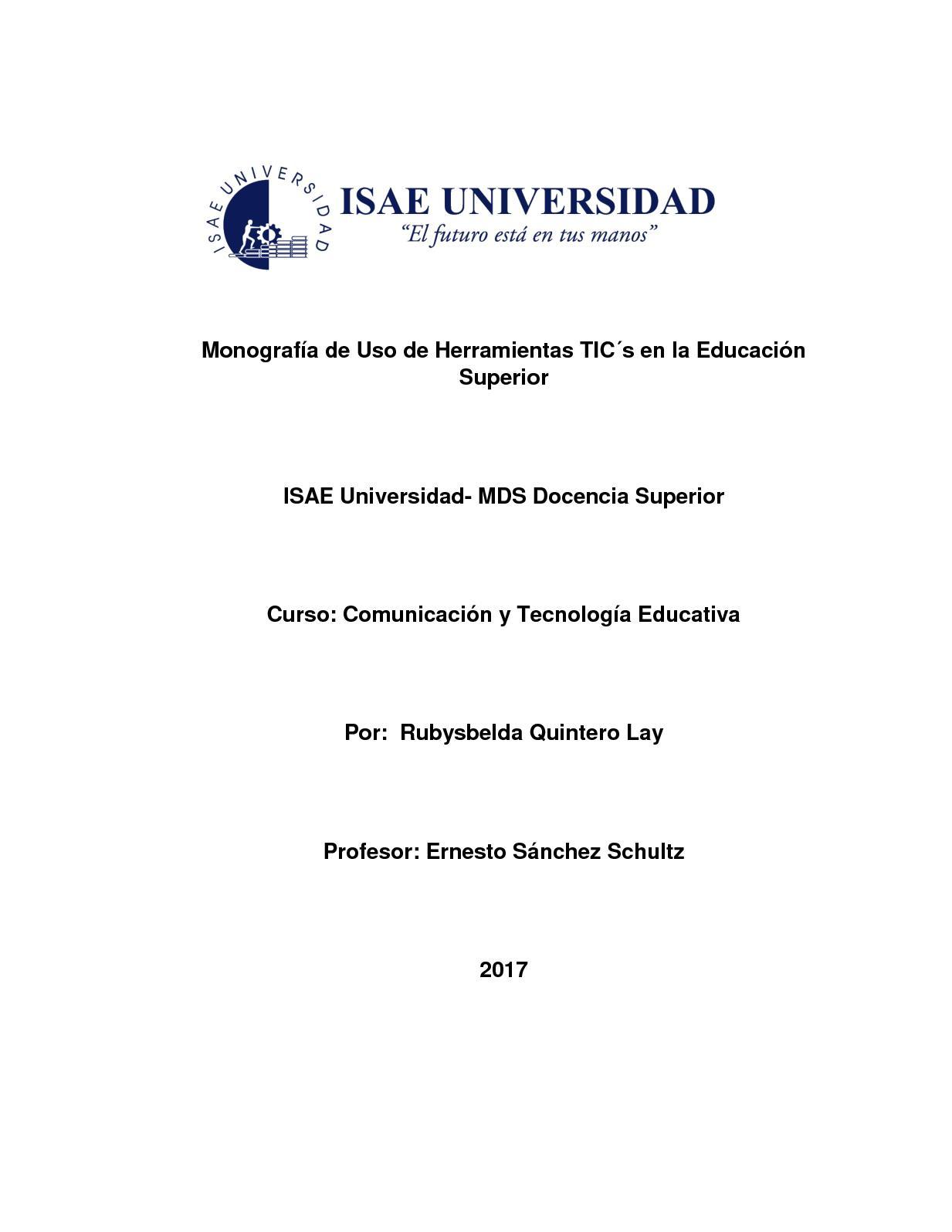 Calaméo - Monografía Tics En La Educación