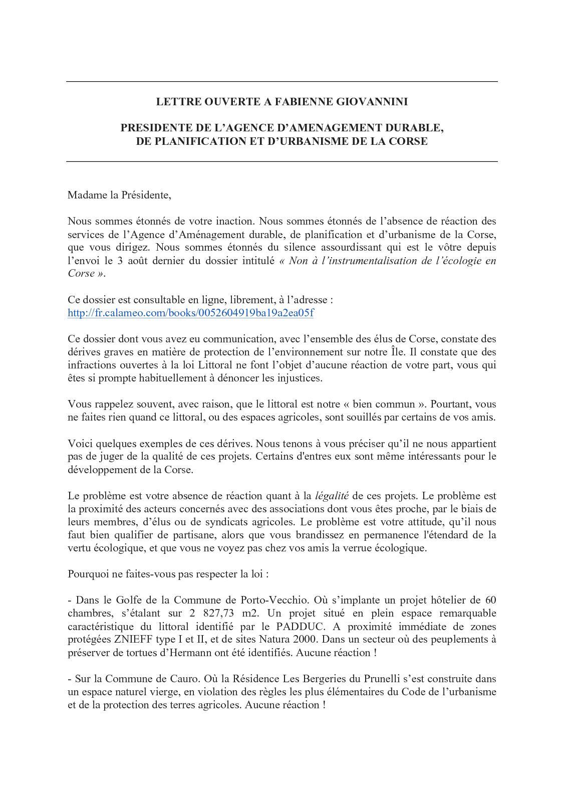 Calameo Lettre Ouverte A Fabienne Giovannini Presidente De L