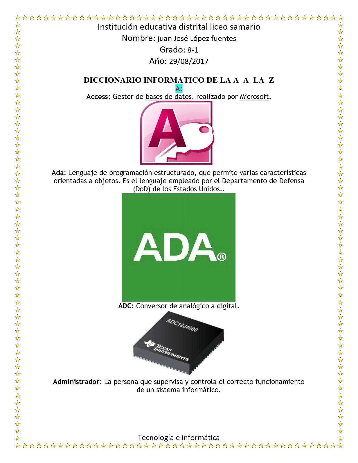 Diccionario Informatico De La A A La Z Docx