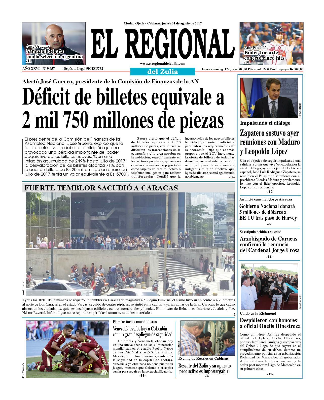 El regional del zulia 31-08-2017