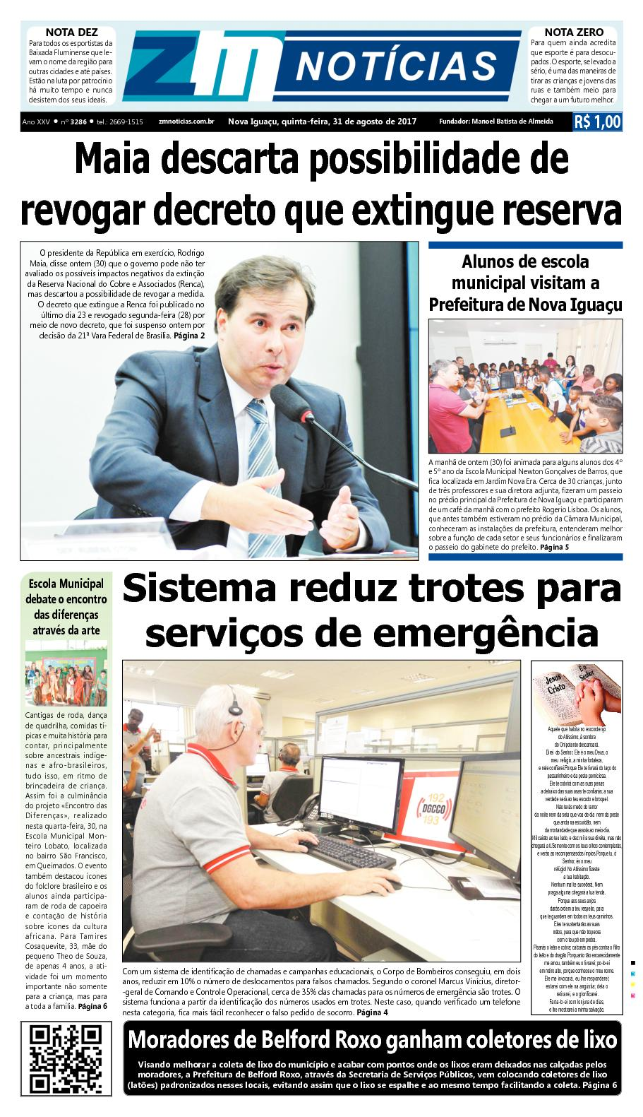 ZM Noticias - Edição 310817