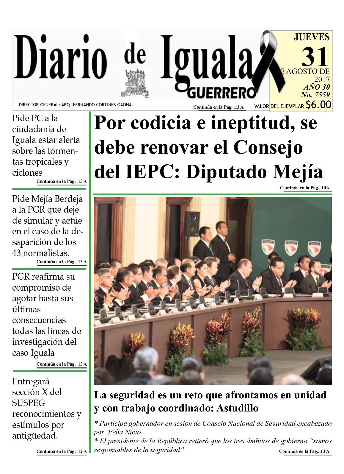 Diario De Iguala Jueves 31 De Agosto De 2017