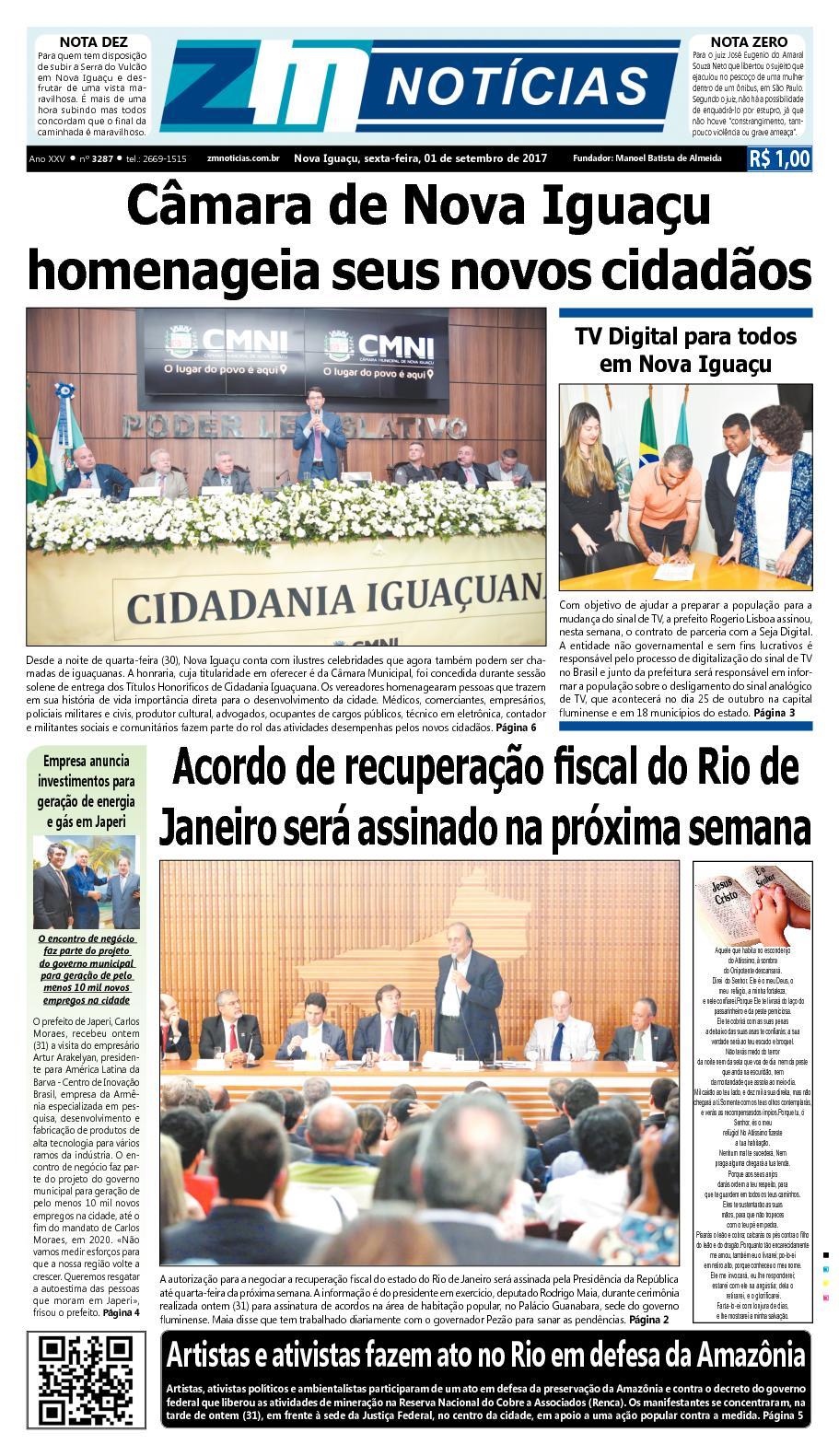 ZM Noticias - Edição 010917
