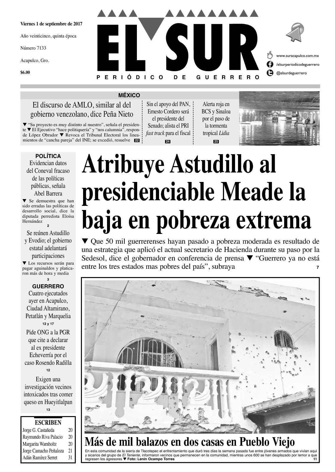 El Sur Viernes 01092017