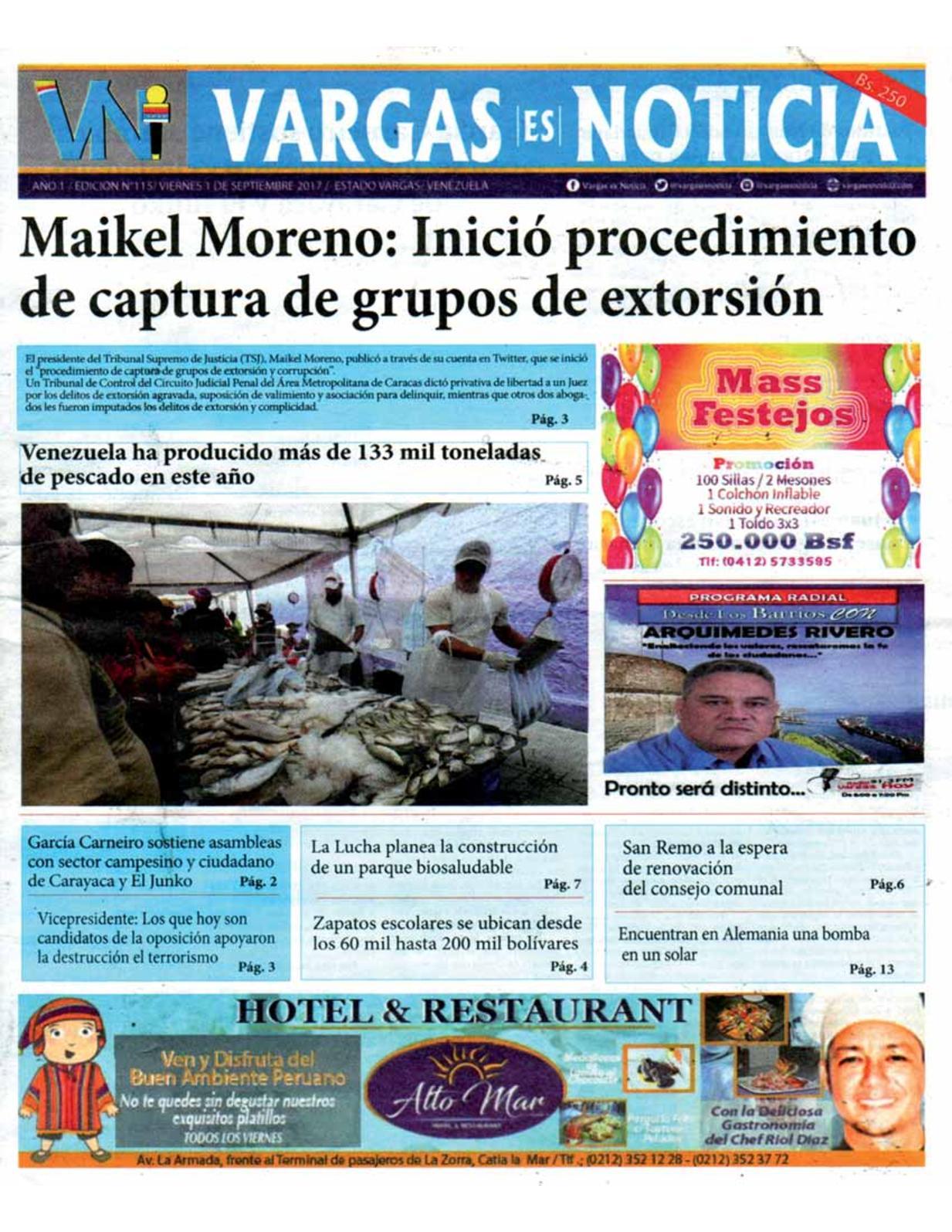Vargas es Noticia, viernes  de agosto de 2017 N° 115