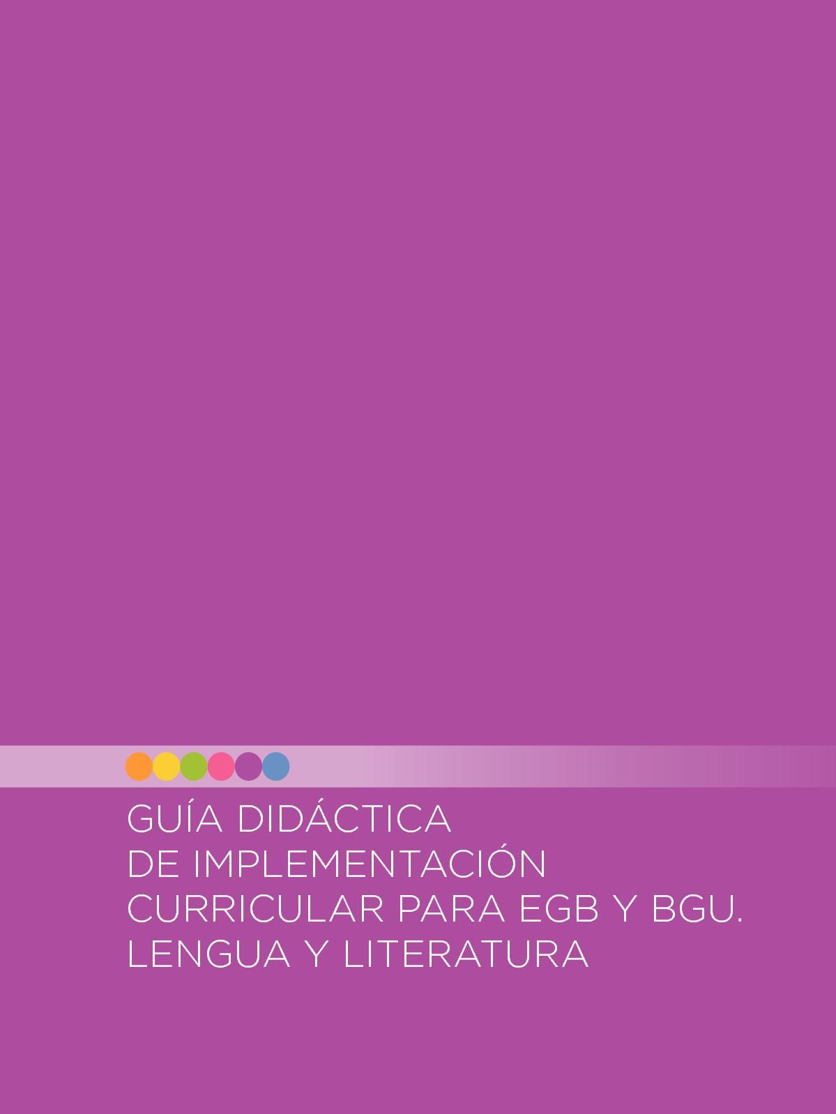 Calaméo - Guia 15 Mayo Literatura Elemental Egb Bgu