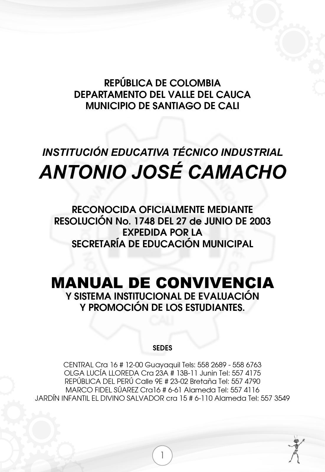 Calaméo - Manual De Convivencia IETI Antonio José Camacho 2017