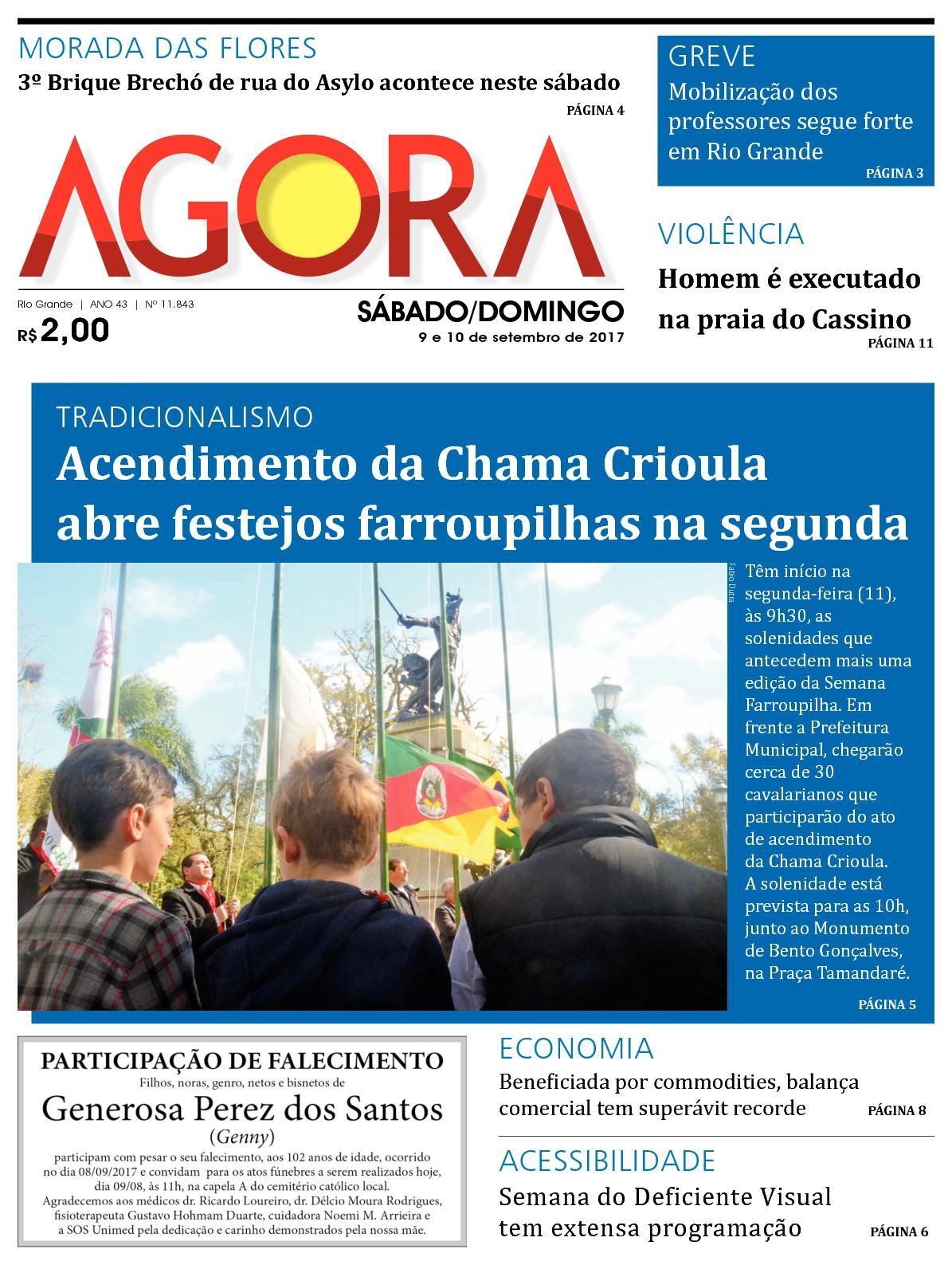 cedc6d9231a Calaméo - Jornal Agora - Edição 11843 - 9 e 10 de Setembro de 2017