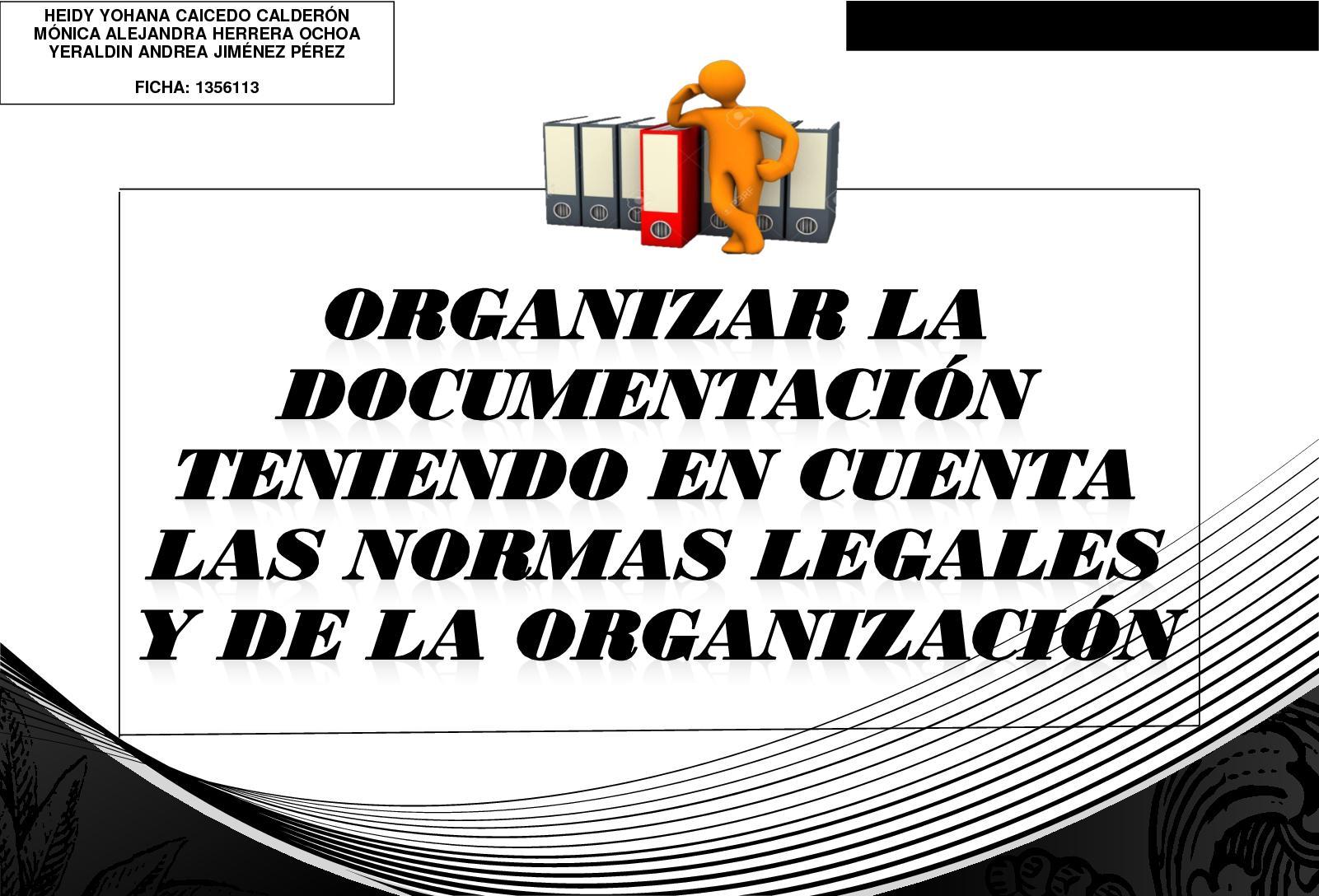 Cartilla De La Competencia Organizar La Documentación
