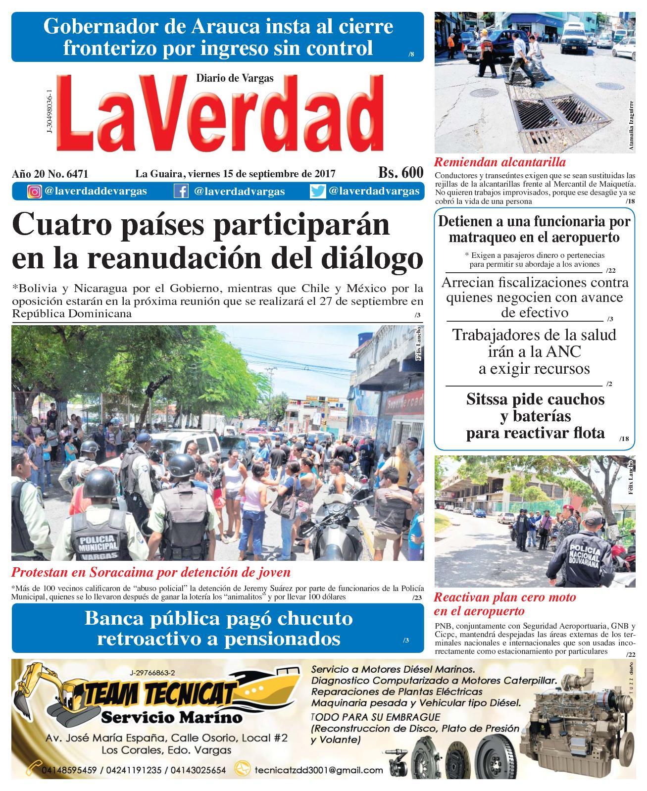 Calaméo - La Guaira, viernes 15 de septiembre de 2017. Año 20 No. 6471