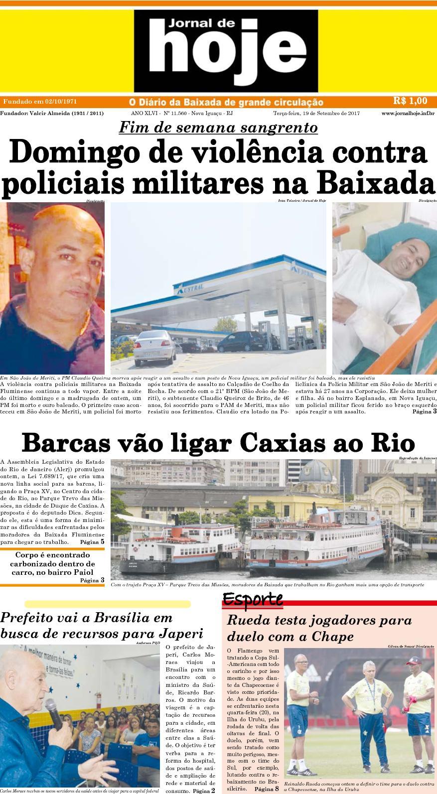 Jornal De Hoje 190917