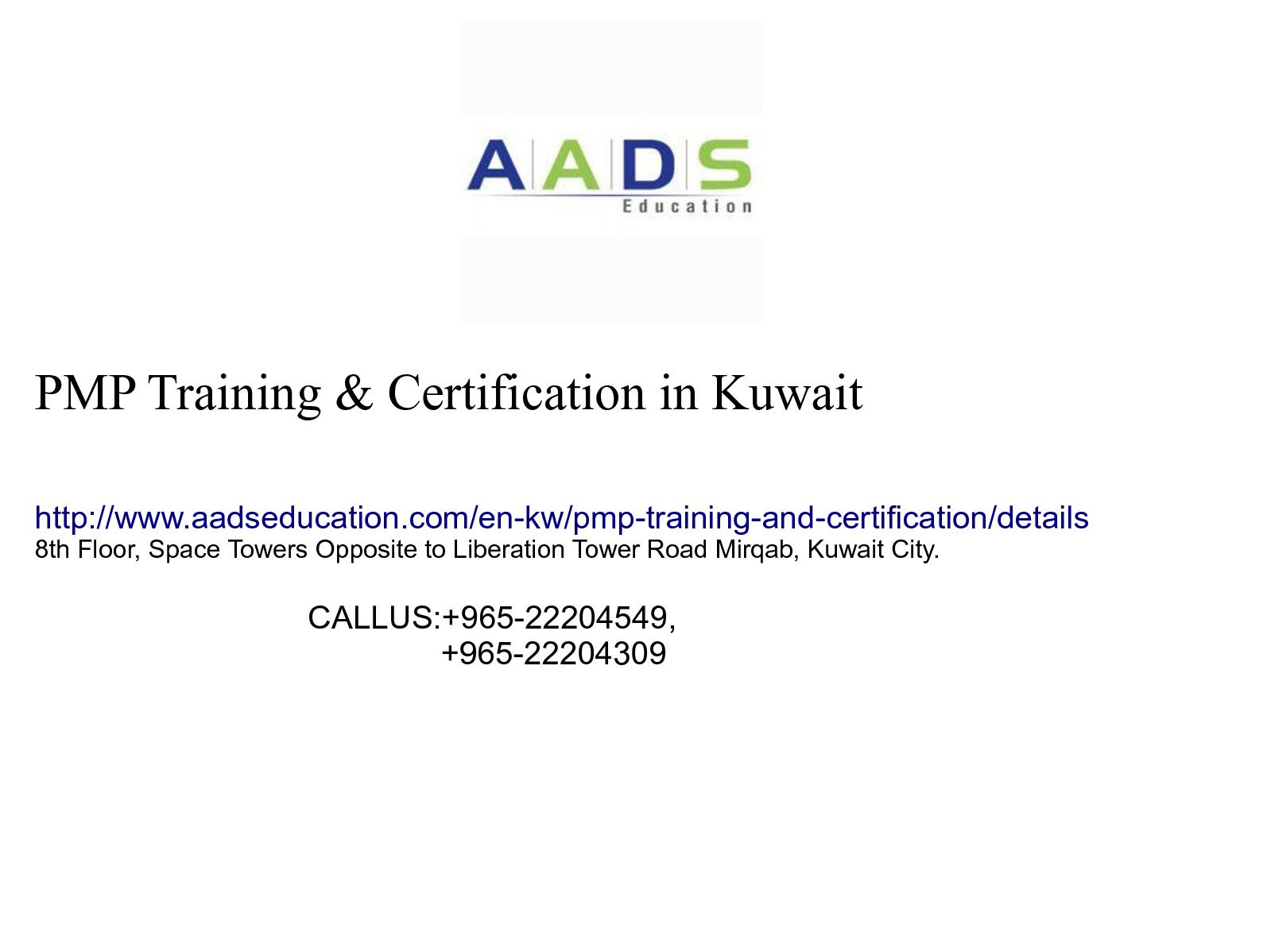 Calamo Pmp Certification In Kuwait Aads Education