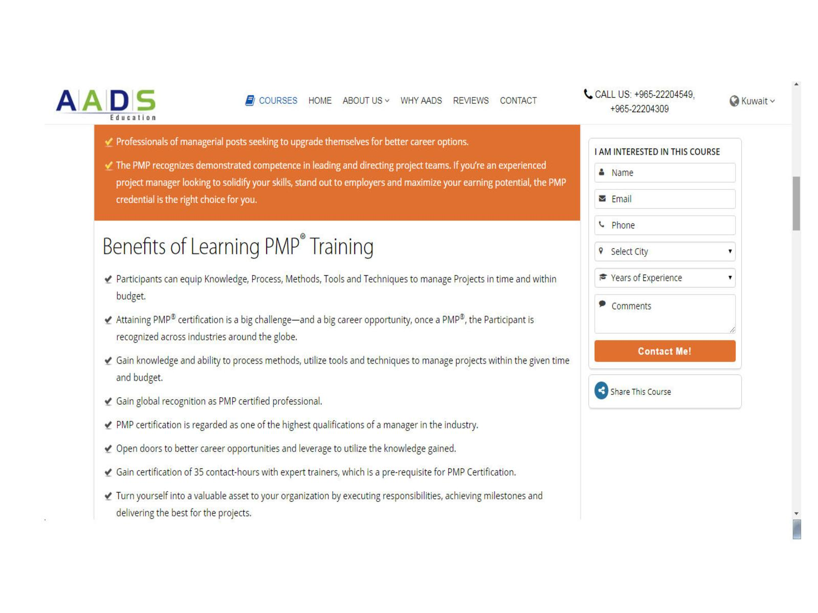 Pmp Certification In Kuwait Aads Education Calameo Downloader