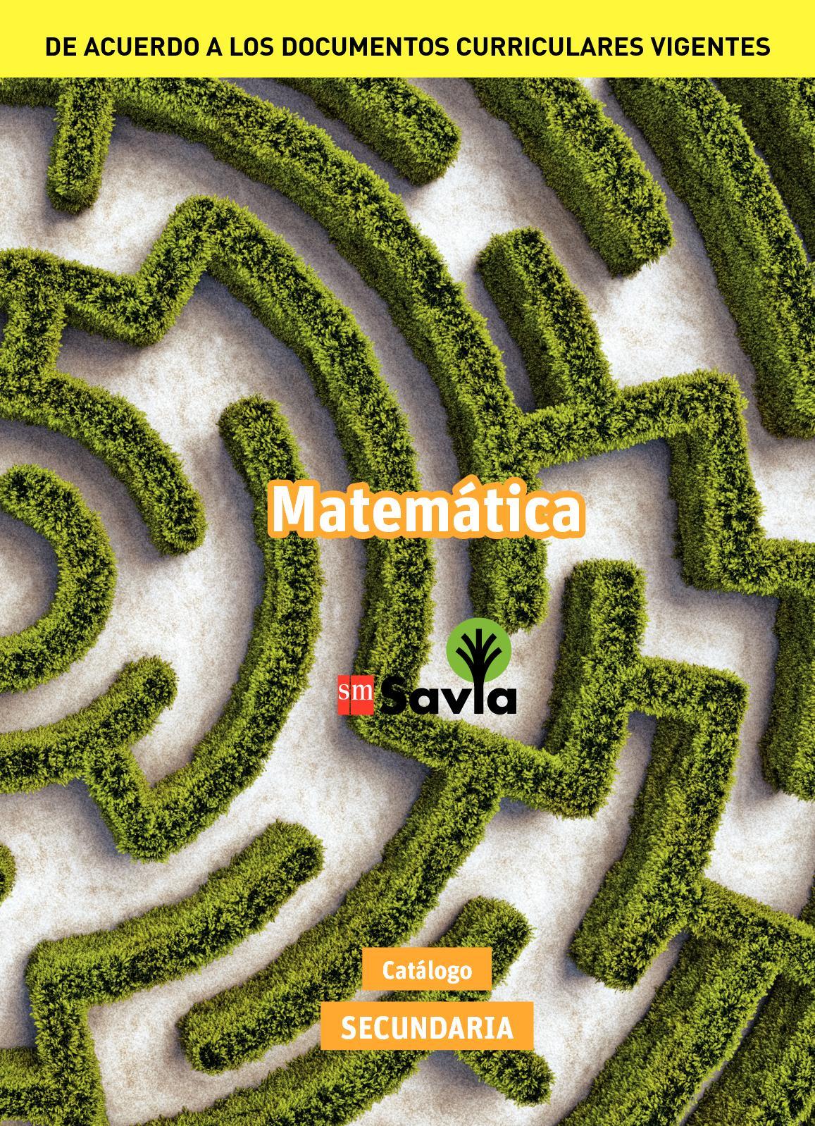 Catálogo Savia Secundaria - Matemática