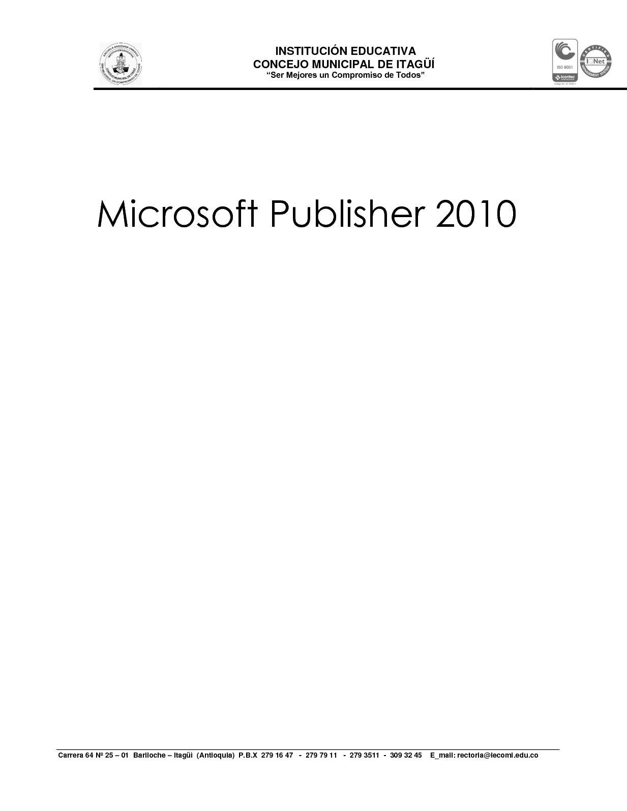 Calaméo - Microsoft Publisher 2010 Guía Del Producto (1)