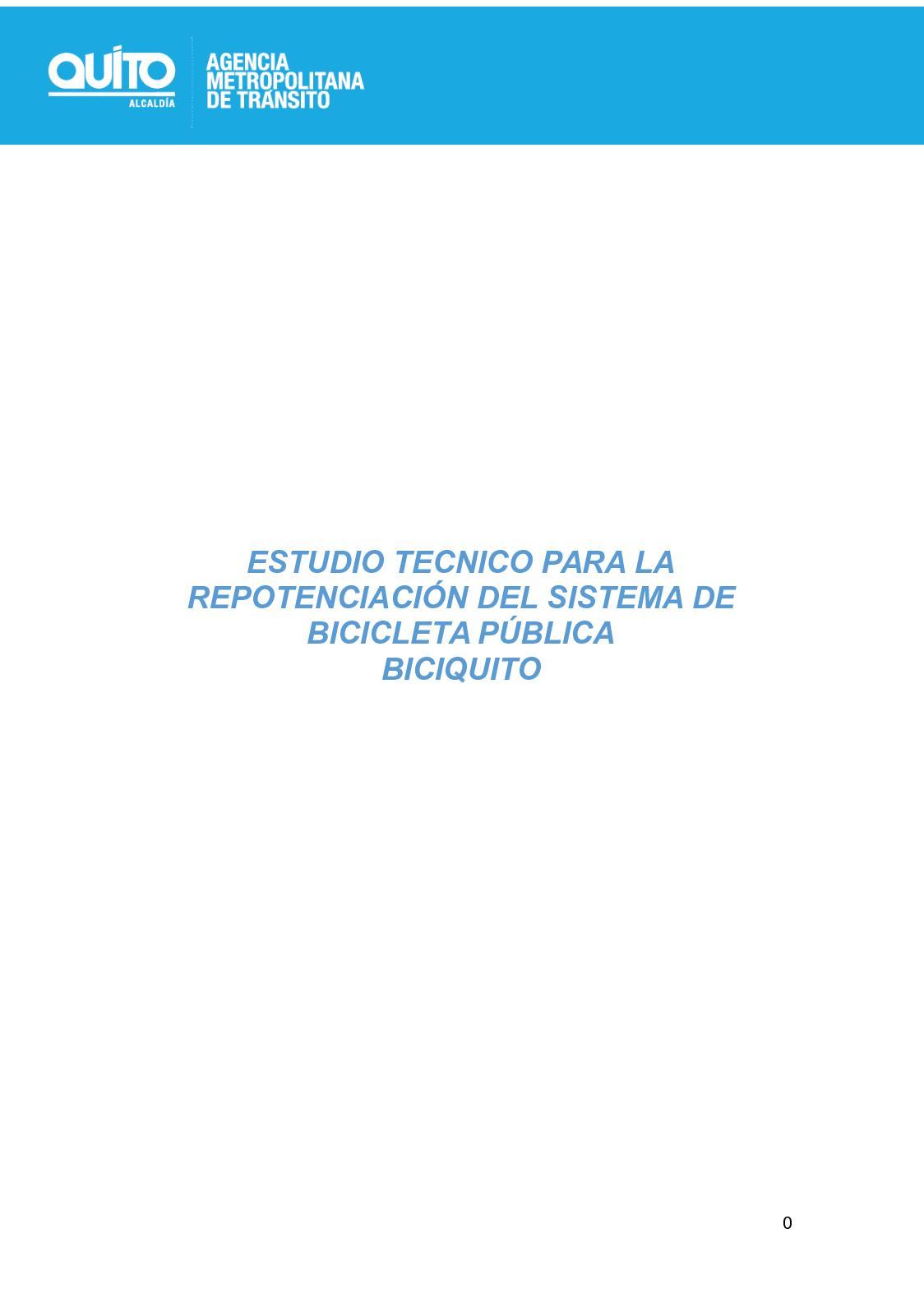 Estudio Tecnico Repotenciacion Bicicleta Publica Biciquito