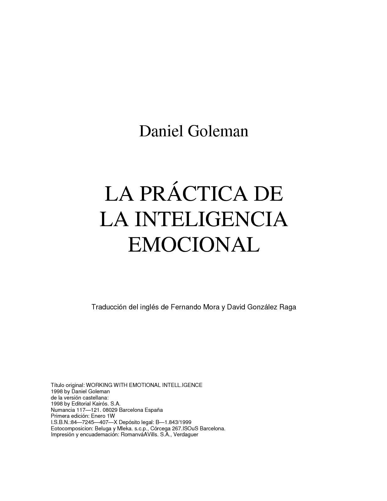 Calaméo - Daniel Goleman La Practica De La Inteligencia Emocional