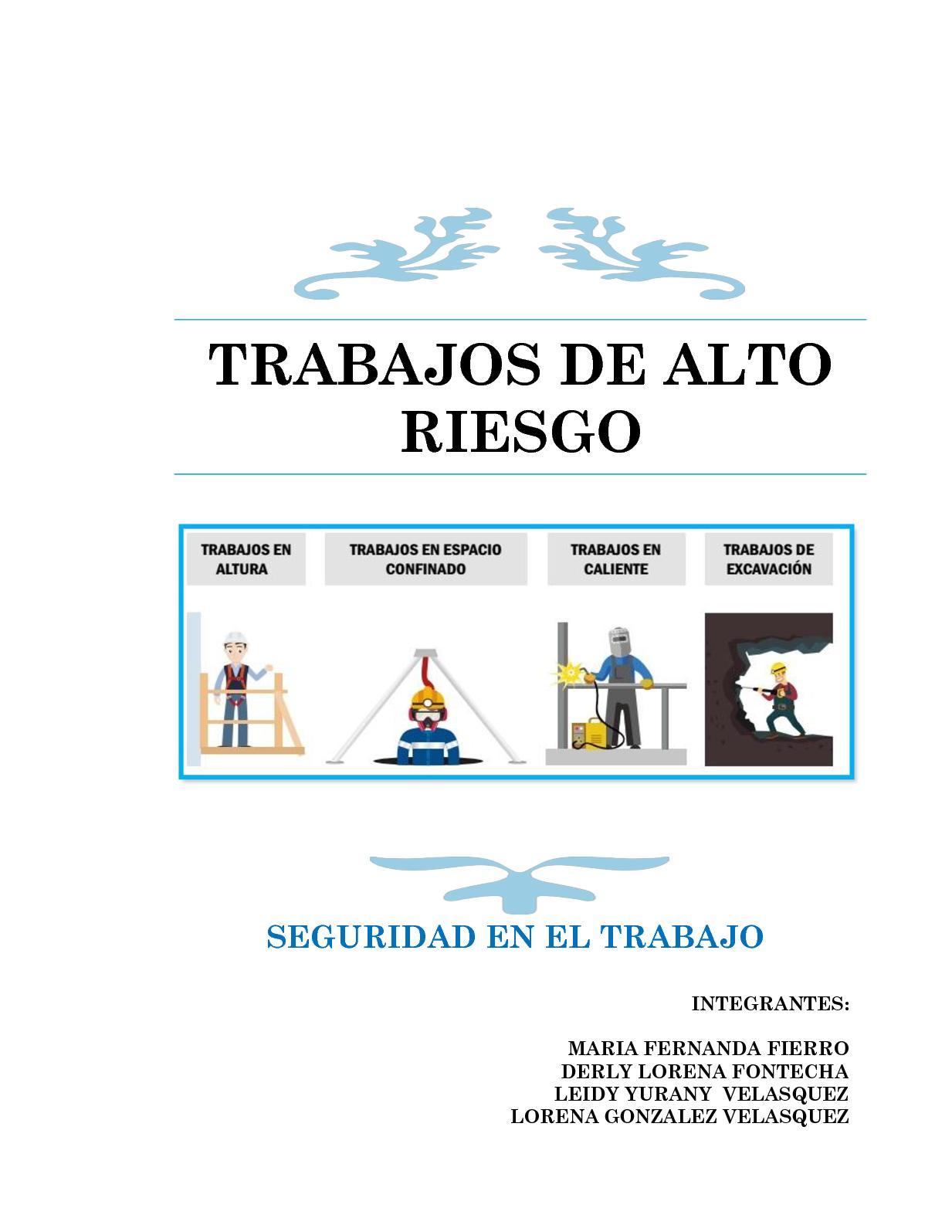 Calaméo - Cartilla Trabajos De Alto Riesgo