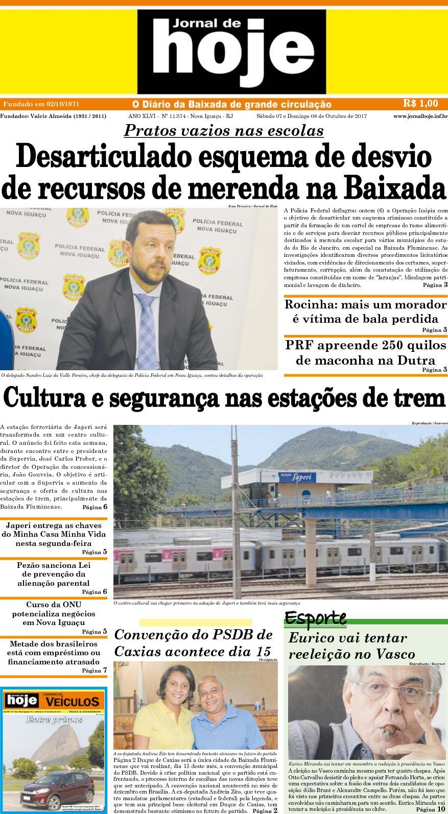 Jornal De Hoje 071017