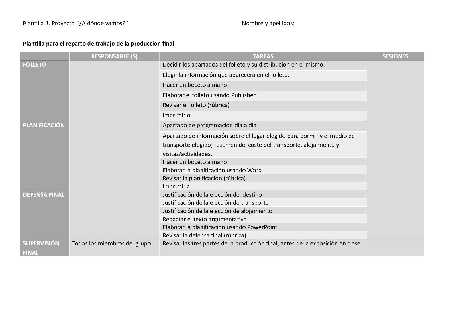 Calaméo - Plantilla 2. Planificación De Reparto De Trabajo Para La ...
