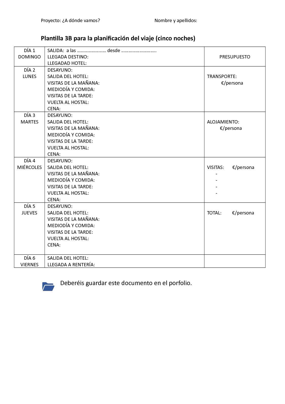 Calaméo - Plantilla 3B. Plantilla Para La Planificación