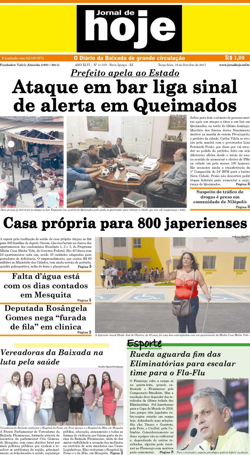 Jornal De Hoje 101017