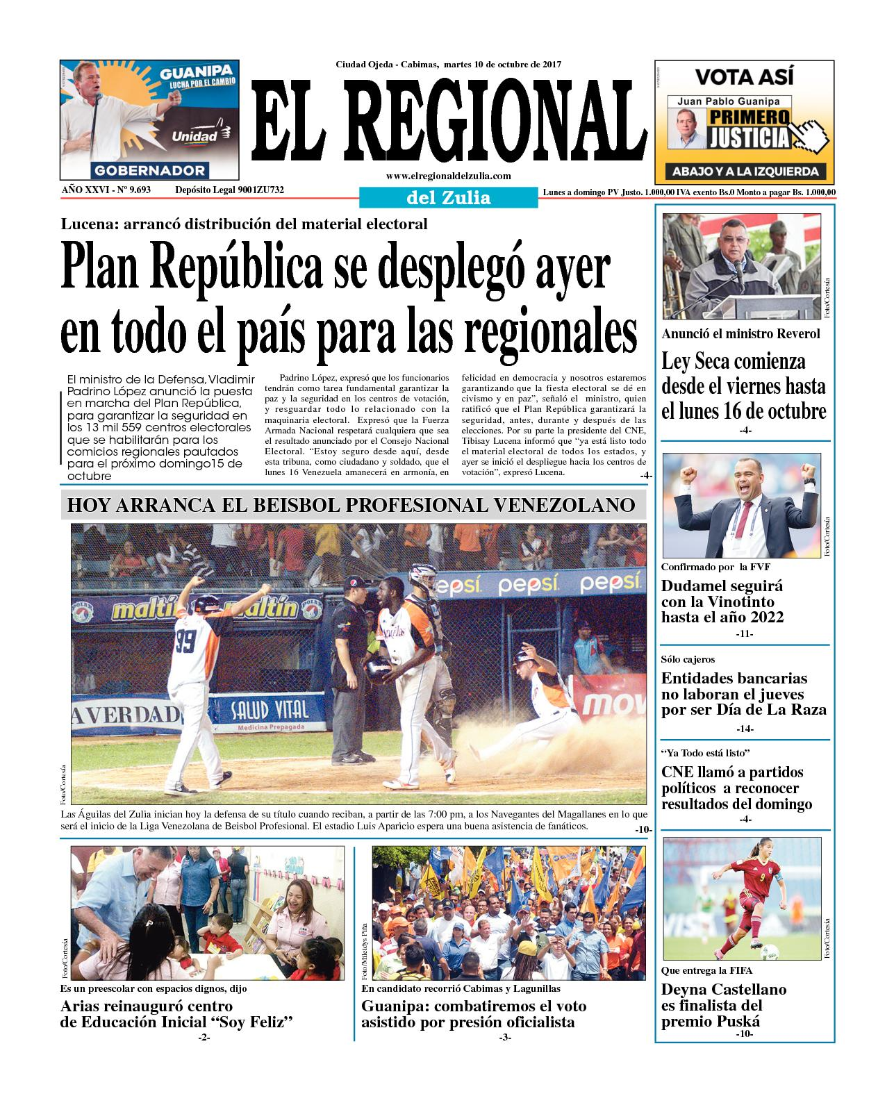 El regional del zulia 10-10-2017