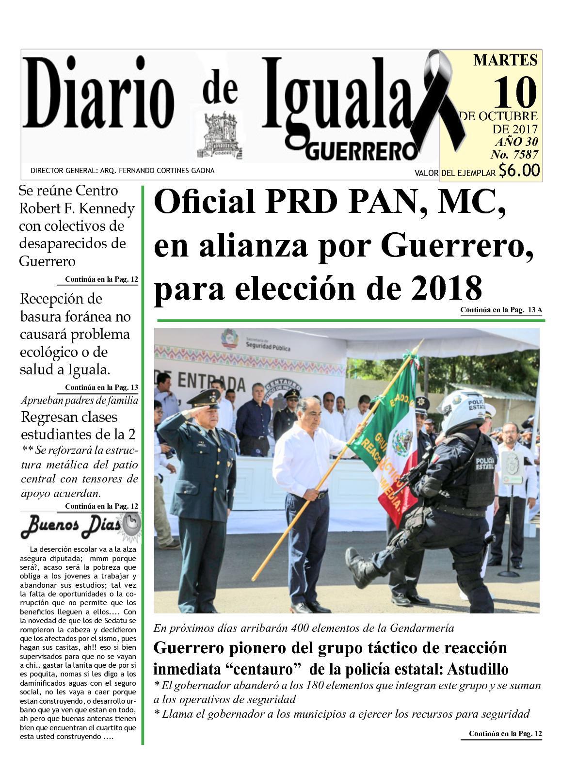 Diario De Iguala Martes 10 De Octubre De 2017 Hoy