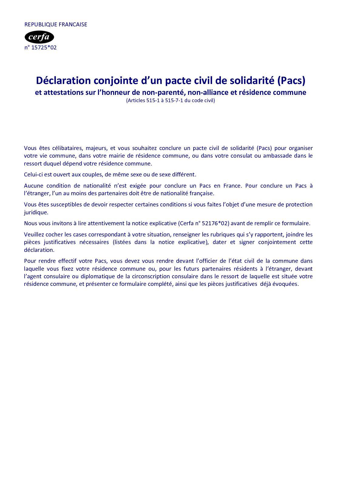 Calameo Declaration Conjointe Pacs 15725