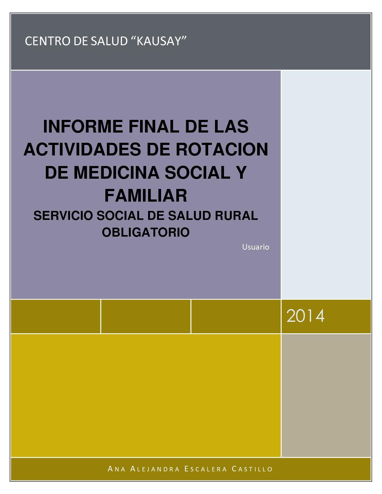 Calaméo - Informe Final De Las Actividades De Rotacion De Medicina ...
