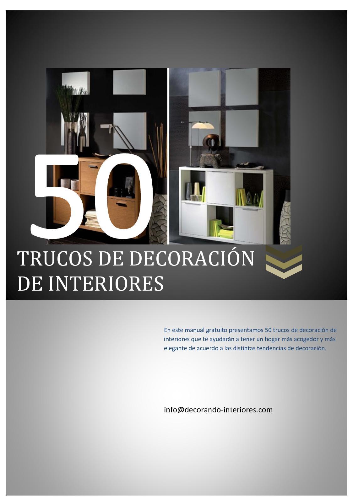Calaméo - 50 Trucos De Decoracion De Interiores